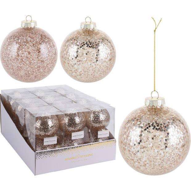 2x Gouden kunststof kerstballen 10 cm - Onbreekbare kerstballen plastic - Kerstboomversiering goud