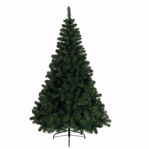 Kunst kerstboom Imperial Pine met opbergzak - 525 tips - 180 cm dennengroen - Kunstkerstbomen en opbergzakken