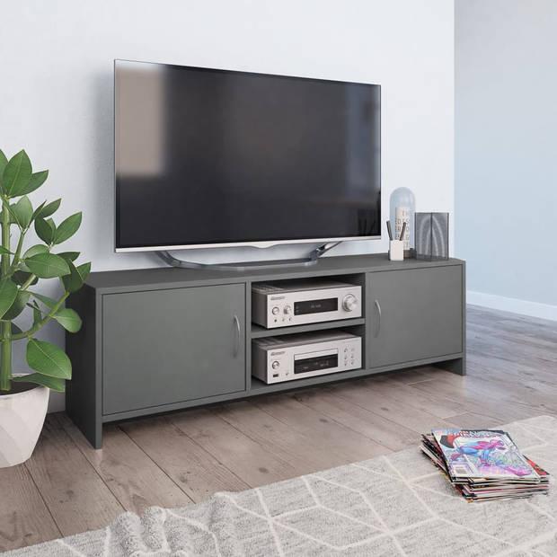 vidaXL Tv-meubel 120x30x37,5 cm spaanplaat grijs