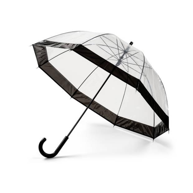Transparante Paraplu Zwart