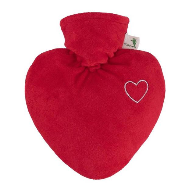 Kruik rood hart met inhoud van 1 liter - Warmwaterkruiken van duurzaam/gerecycled kunststof - Valentijn cadeaus