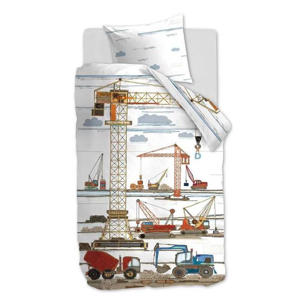 Beddinghouse Kids Building Site dekbedovertrek - Katoen - Peuter (120x150 cm + 1 sloop) - Multi