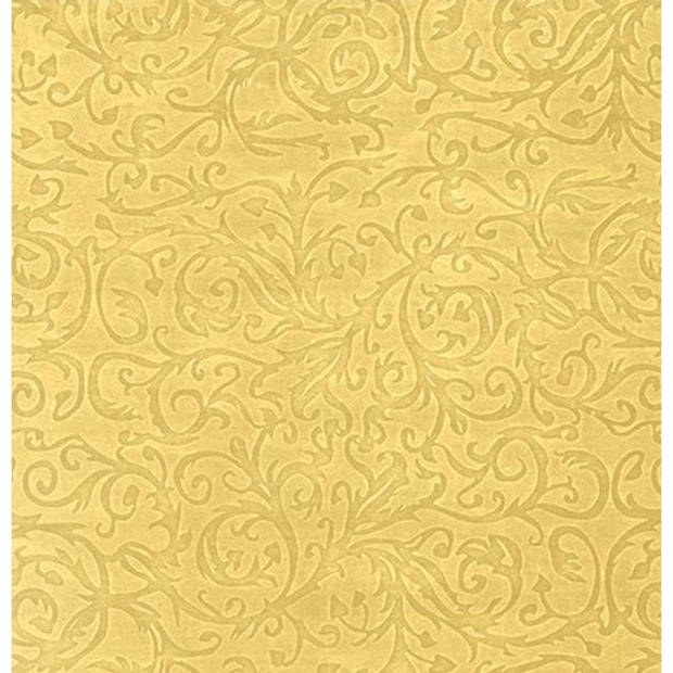 Inpakpapier/cadeaupapier Goud Metallic klassiek design 150 x 70 cm rol - kadopapier / cadeaupapier