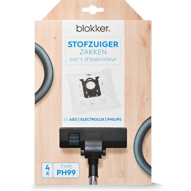 Blokker stofzuigerzak AEG, Electrolux, Philips s-bag ph99 - 4 stuks