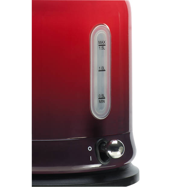 Bourgini waterkoker Nostalgic - ombré rood