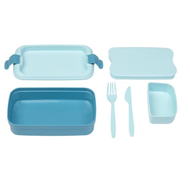 Curver Lunch&go Lunchdoos met Bestek - Blauw