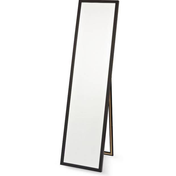 Blokker staande spiegel - 33,5 x 148 cm - zwart