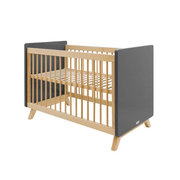 Bopita Kyan 2-Delige Babykamer - Bed - Commode - Grey/Natural