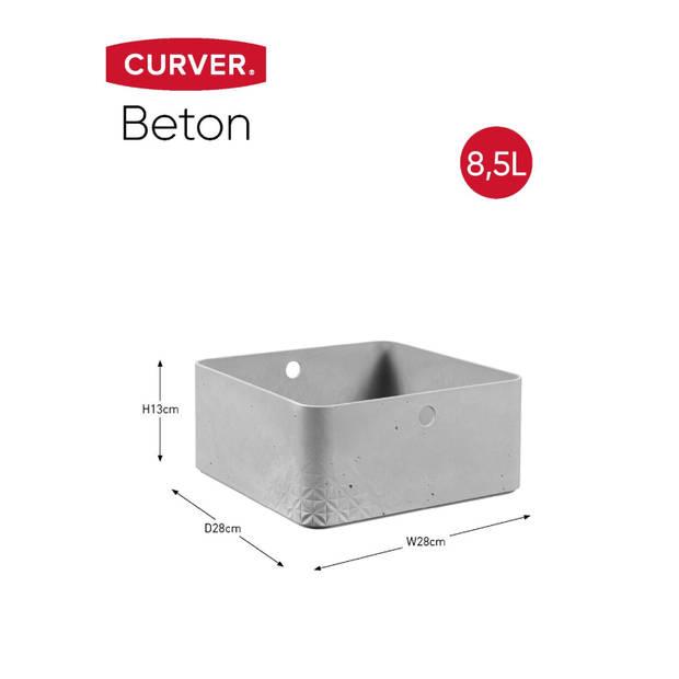Curver Beton opbergbox L - 8,5L - Lichtgrijs