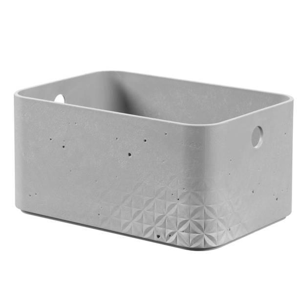 Curver Beton opbergbox S - 4L - Lichtgrijs