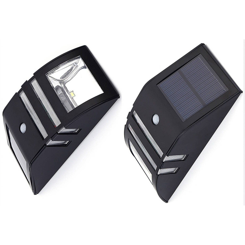 Luxe Solar Buitenlamp - Zwart - Warm Wit Licht