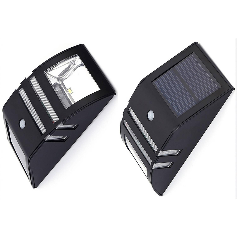 Luxe Solar Buitenlamp - Zwart - Wit Licht