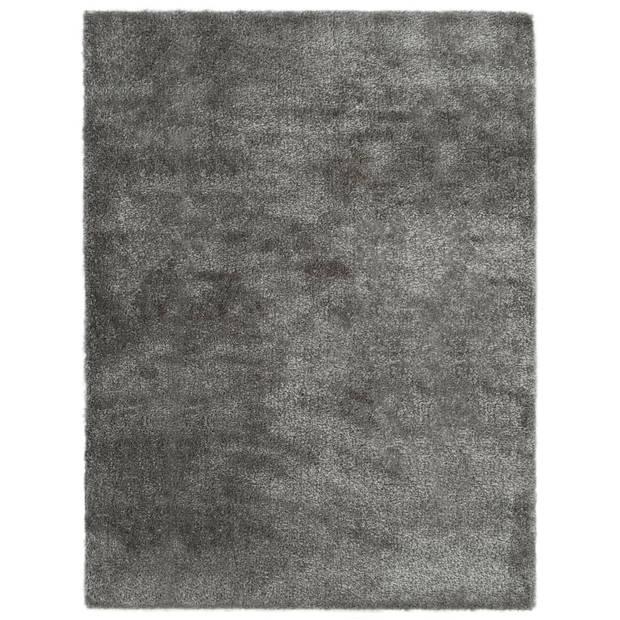 vidaXL Vloerkleed shaggy hoogpolig 80x150 cm antraciet