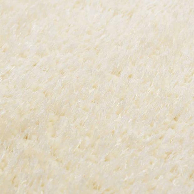 vidaXL Vloerkleed shaggy hoogpolig 80x150 cm crème