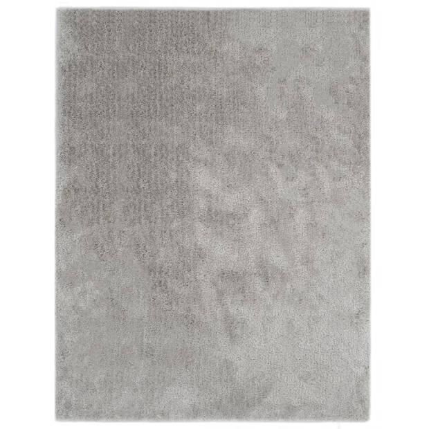 vidaXL Vloerkleed shaggy hoogpolig 80x150 cm grijs