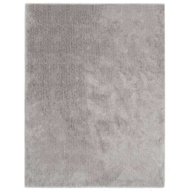 vidaXL Vloerkleed shaggy hoogpolig 160x230 cm grijs