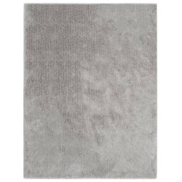 vidaXL Vloerkleed shaggy hoogpolig 140x200 cm grijs