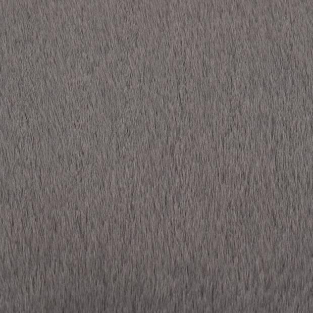 vidaXL Vloerkleed 80 cm kunstkonijnenbont donkergrijs