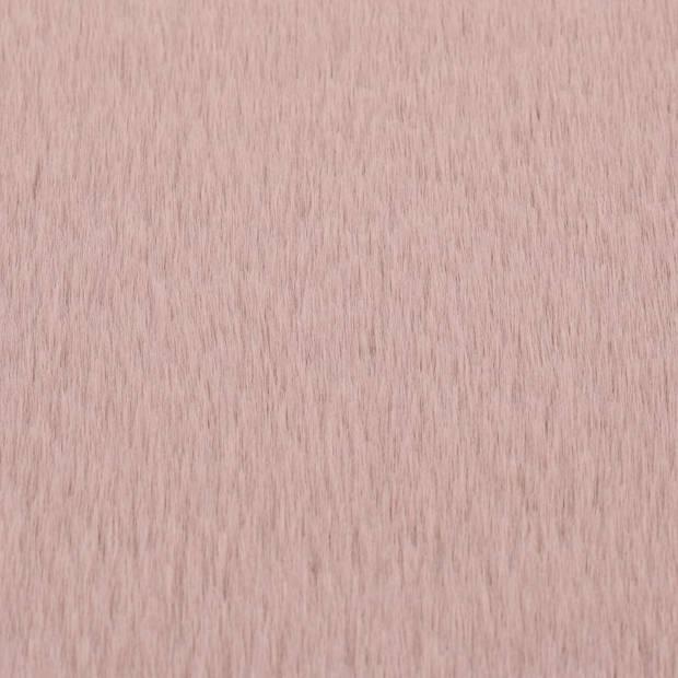 vidaXL Vloerkleed 80 cm kunstkonijnenbont oudroze