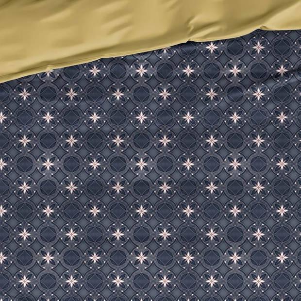 De Witte Lietaer Alice dekbedovertrek - 1-persoons (140x200/220 cm + 1 sloop) - Katoen satijn - Blue Wing Teal