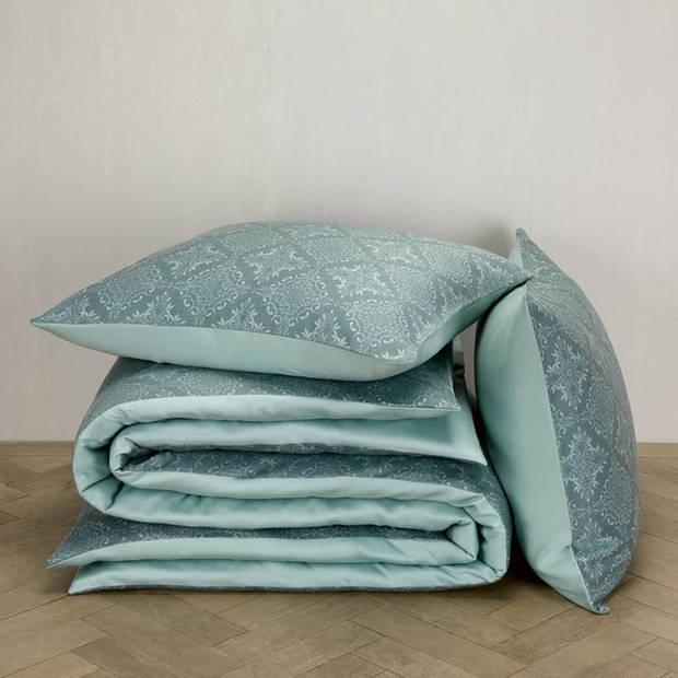 De Witte Lietaer Rosemary dekbedovertrek - 1-persoons (140x200/220 cm + 1 sloop) - Katoen satijn - Goblin Blue