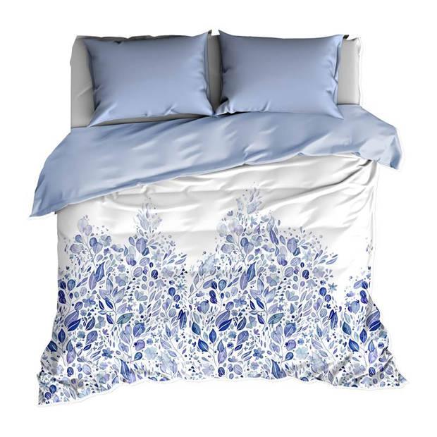 De Witte Lietaer Twirl dekbedovertrek - 1-persoons (140x200/220 cm + 1 sloop) - Katoen satijn - Kentucky Blue