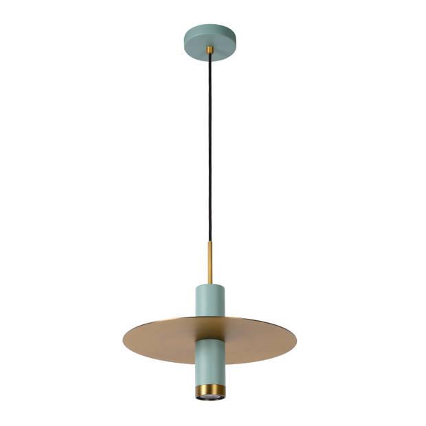 Lucide SELIN Hanglamp 1x GU10/35W Blauw/ mat geelkoper
