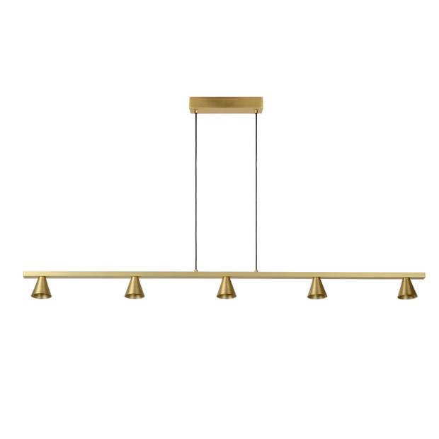 Lucide DELANO Hanglamp Led 5x5W Mat Goud
