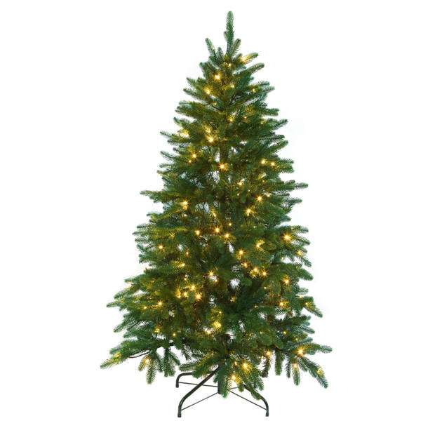 Kerstboom Excellent Trees® LED Falun Green 150 cm - Luxe uitvoering - 190 Lampjes