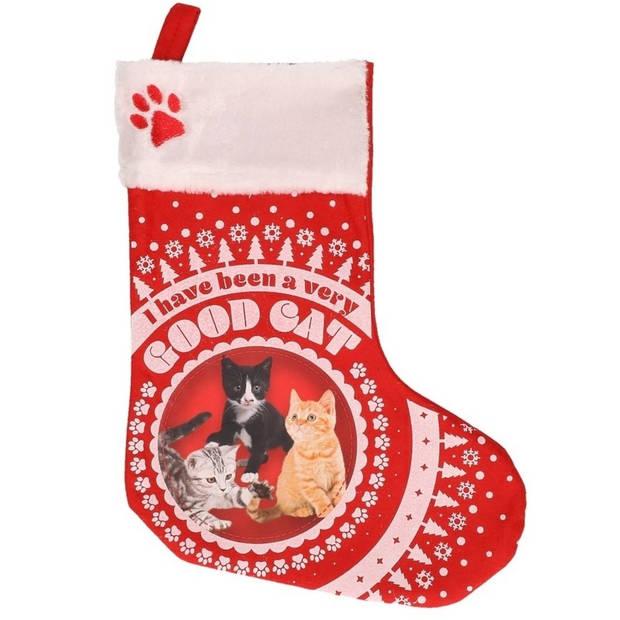 Katten/poezen kerstsokken I have been a very good cat - Kerstsokken voor huisdieren - Kerstsokken voor de kat/poes