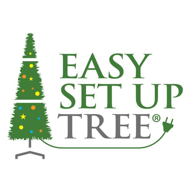 Kerstboom met versiering Easy Set Up Tree® LED Avik Decorated Frosted Shiny Mint 180 cm - Luxe uitvoering - 240 Lampjes