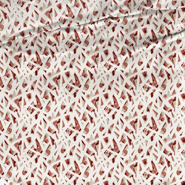 Romanette Dazzle dekbedovertrek - 1-persoons (140x200/220 cm + 1 sloop) - Katoen - Red