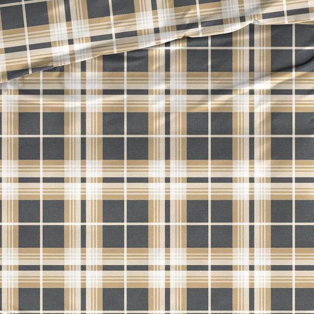Satin D'or Satin d'Or Banff dekbedovertrek - 1-persoons (140x200/220 cm + 1 sloop) - Katoen satijn - Caramel