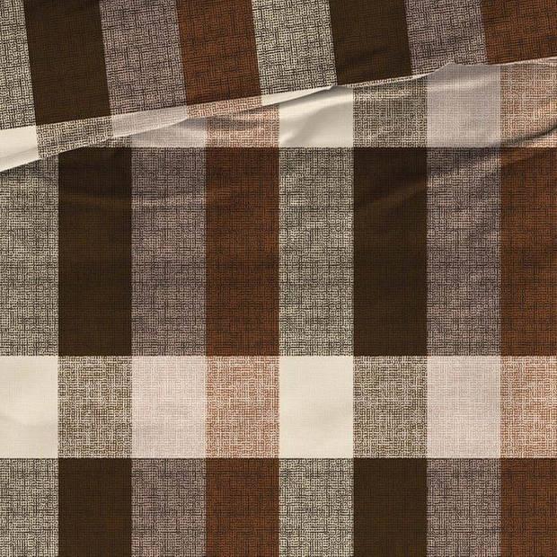 Satin D'or Satin d'Or Faubourg dekbedovertrek - 1-persoons (140x200/220 cm + 1 sloop) - Katoen satijn - Bruin