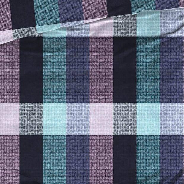 Satin D'or Satin d'Or Faubourg dekbedovertrek - 1-persoons (140x200/220 cm + 1 sloop) - Katoen satijn - Blauw