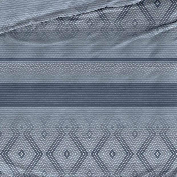 Satin D'or Satin d'Or Baltimore dekbedovertrek - 1-persoons (140x200/220 cm + 1 sloop) - Katoen satijn - Blauw grijs