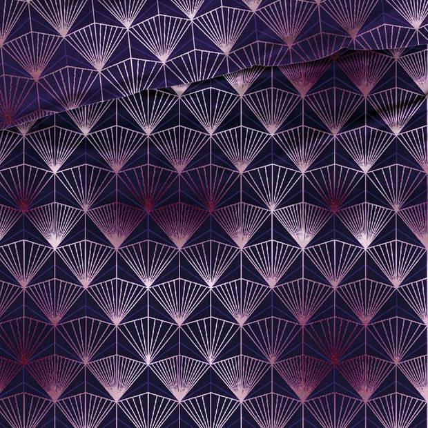 Satin D'or Satin d'Or Tiffany dekbedovertrek - 1-persoons (140x200/220 cm + 1 sloop) - Katoen satijn - Marine
