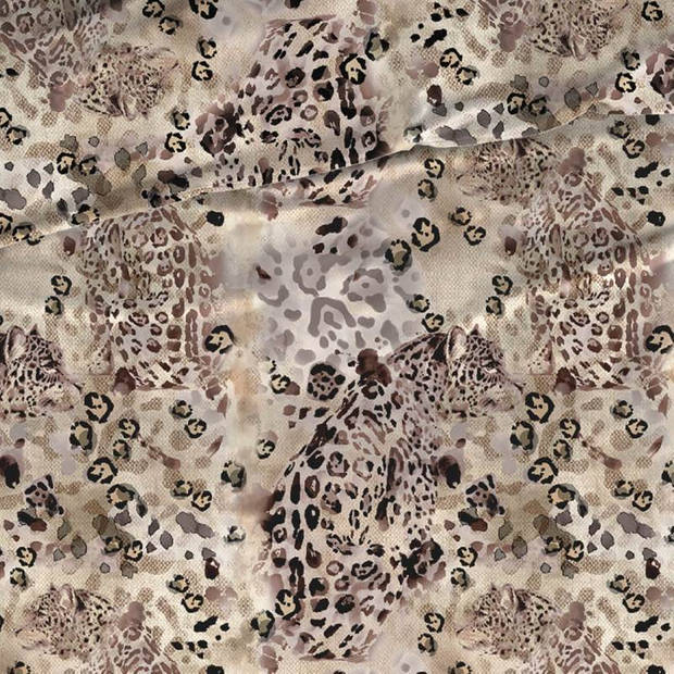 Romanette Savannah dekbedovertrek - 1-persoons (140x200/220 cm + 1 sloop) - Katoen - Beige