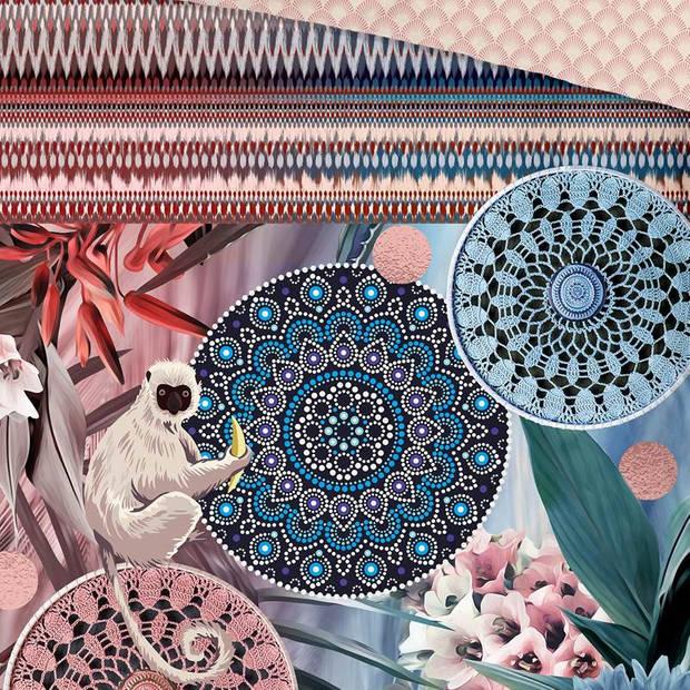 HIP Zoya dekbedovertrek - 1-persoons (140x200/220 cm + 1 sloop) - Katoen satijn - Multi