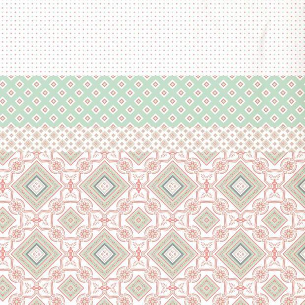 Good Morning Gabriela dekbedovertrek - 1-persoons (140x200/220 cm + 1 sloop) - Katoen - Mint