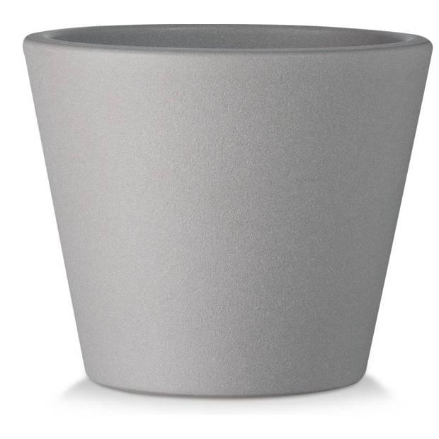 Blokker bloempot Liesbeth - grijs - 15x15x12,5 cm
