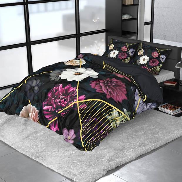 Dreamhouse Bedding Linleez dekbedovertrek - 2-persoons (200x200/220 cm + 2 slopen) - Katoen satijn - Indigo