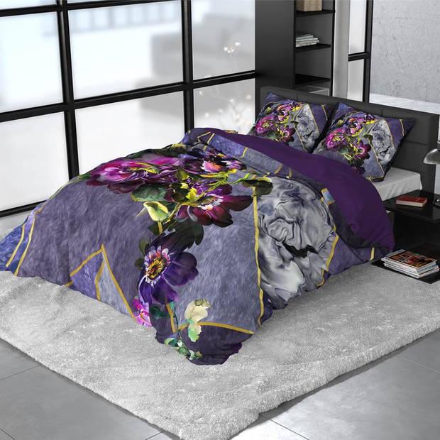 Dreamhouse Bedding Kannieta dekbedovertrek - 2-persoons (200x200/220 cm + 2 slopen) - Katoen satijn - Purple