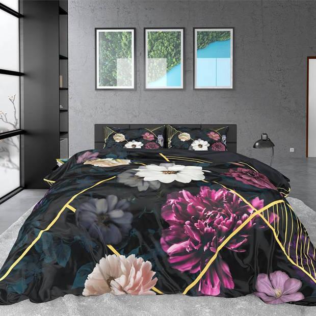 Dreamhouse Bedding Linleez dekbedovertrek - 1-persoons (140x200/220 cm + 1 sloop) - Katoen satijn - Indigo