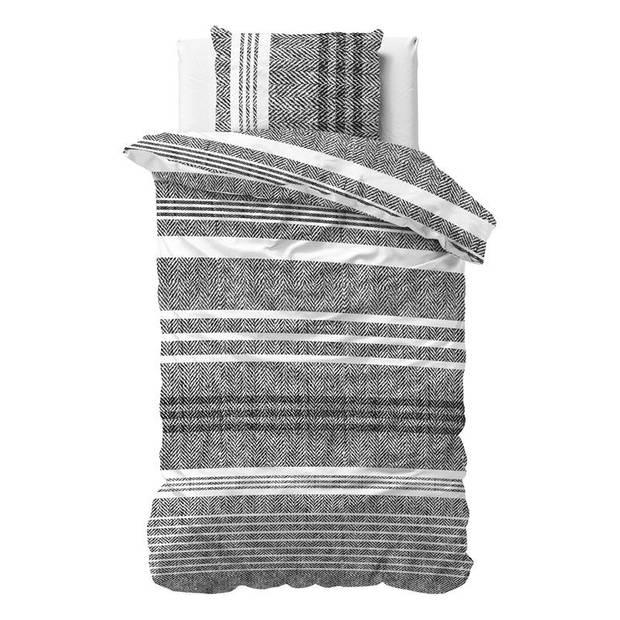 Dreamhouse Bedding Caden dekbedovertrek - 1-persoons (140x200/220 cm + 1 sloop) - Katoen satijn - Grey