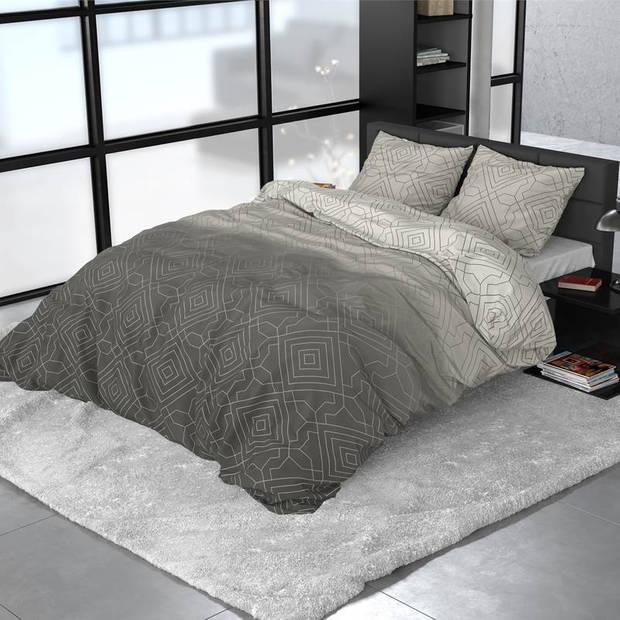 Dreamhouse Bedding Celsey dekbedovertrek - 2-persoons (200x200/220 cm + 2 slopen) - Katoen satijn - Taupe
