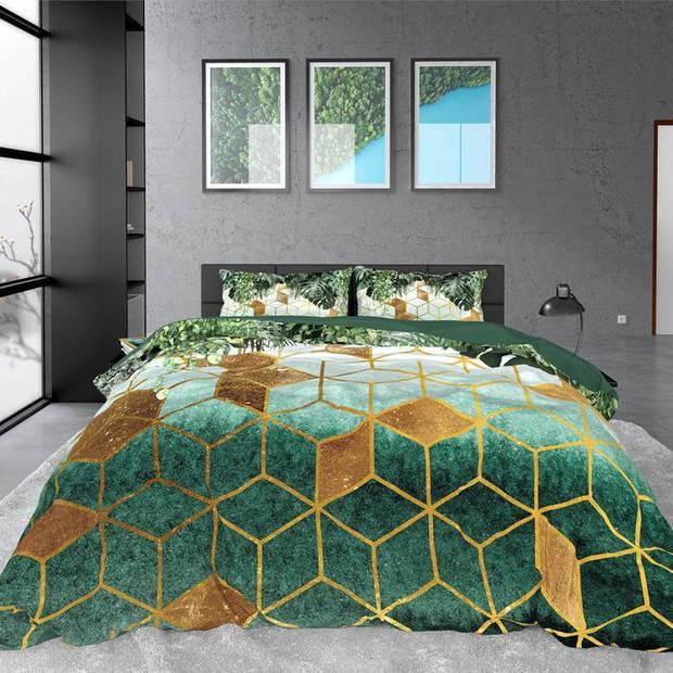Dreamhouse Bedding Forest Sceptic dekbedovertrek - 1-persoons (140x200/220 cm + 1 sloop) - Katoen satijn - Green