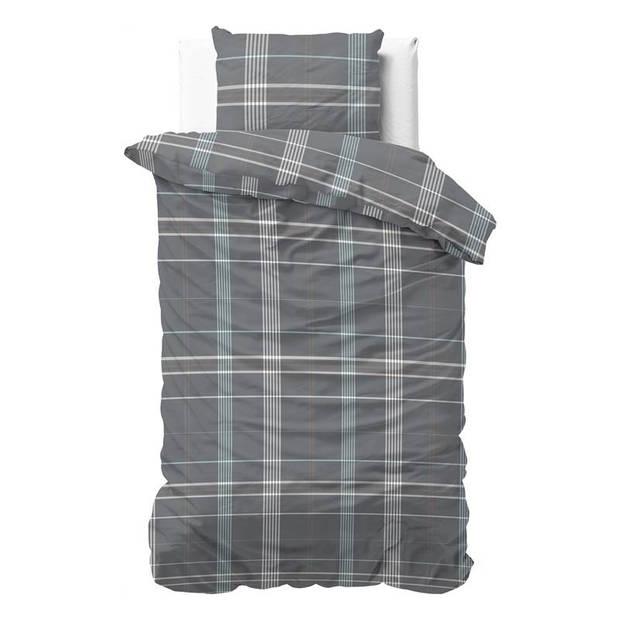 Dreamhouse Bedding Bruce dekbedovertrek - 1-persoons (140x200/220 cm + 1 sloop) - Katoen satijn - Grijs
