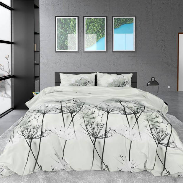 Dreamhouse Bedding Jaelyn dekbedovertrek - Lits-jumeaux (240x200/220 cm + 2 slopen) - Katoen satijn - Grey