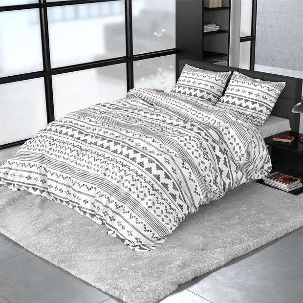 Dreamhouse Bedding Scandino dekbedovertrek - Lits-jumeaux (240x200/220 cm + 2 slopen) - Katoen satijn - White